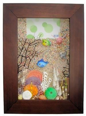 海洋风造型相框 key box-胡桃色