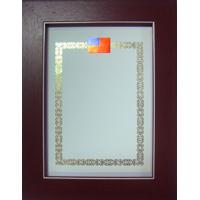 #137 白線胡桃木色獎狀框