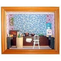 娃娃屋立體相框 廚 房 (4X6吋)