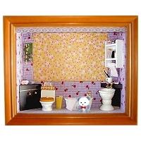娃娃屋立體相框 浴 室 (4X6吋)
