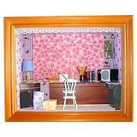 娃娃屋立體相框 書 房 (4X6吋)