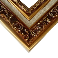 #518A 黃金浮雕畫框