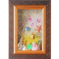 家飾飾品-海洋風造型相框-胡桃色